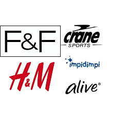 f&f, cRANE, h&m,IMPIDIMPI,ALIVE